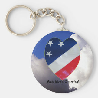 Patriot Heart Key Chains