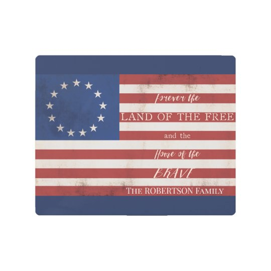picture regarding Betsy Ross Printable Pictures titled Patriot Property Totally free n Courageous Betsy Ross Flag Standing Steel Print