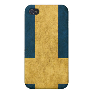 Patriot iPhone Case with Vintage Swedish Flag