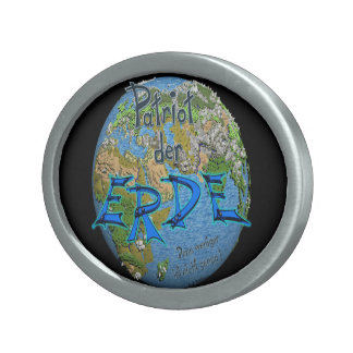 Patriot of the earth oval belt buckle