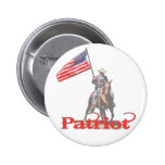 Patriot on horseback 2 buttons