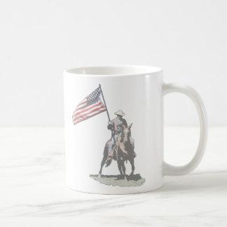 Patriot on horseback coffee mug