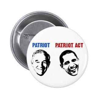 Patriot / Patriot Act Pinback Button