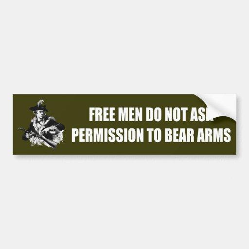 Patriot -Permission Bumper Stickers