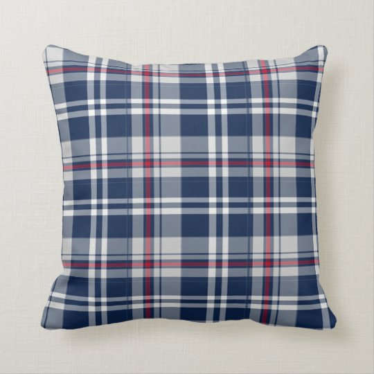 Patriot Plaid Throw Pillow