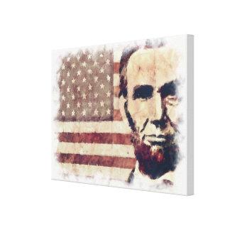 Patriot President Abraham Lincoln Canvas Print