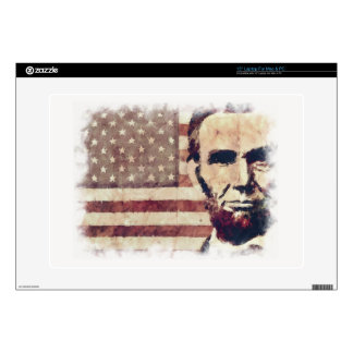 Patriot President Abraham Lincoln Laptop Decal