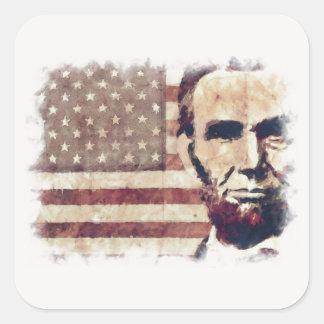 Patriot President Abraham Lincoln Square Sticker