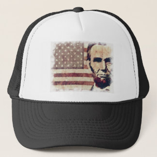 Patriot President Abraham Lincoln Trucker Hat