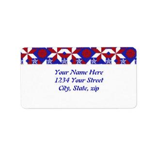 Patriot Quilt custom Address Label