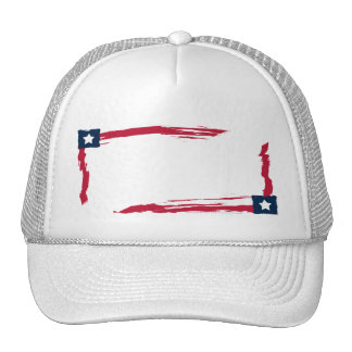 Patriot Red White & Blue Add Your Text Trucker Hat