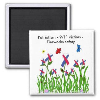 Patriot ribbon garden magnet