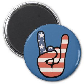 Patriot Rock Hand 2 Inch Round Magnet