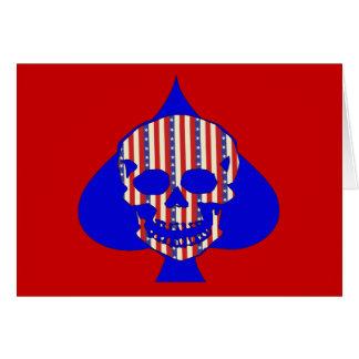 Patriot Skull Stationery Note Card