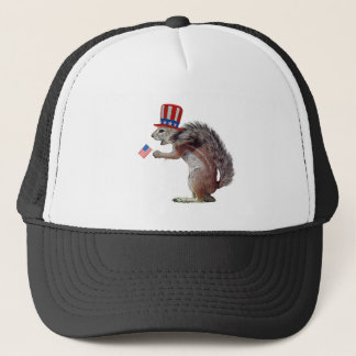Patriot squirrel trucker hat
