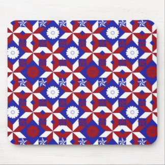 Patriot Star Quilt Mouse Pad