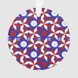 Patriot Star Quilt Ornament