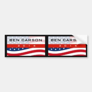 Patriot Stars Ben Carson for President 2016 Bumper Sticker