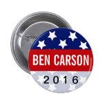Patriot Stars Ben Carson for President 2016 2 Inch Round Button