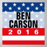 Patriot Stars Ben Carson for President 2016 Poster