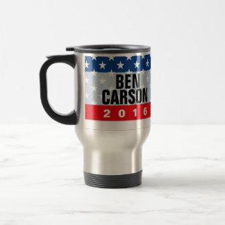 Patriot Stars Ben Carson for President 2016 Travel Mug