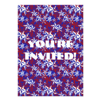 Patriot Stars custom Invitations