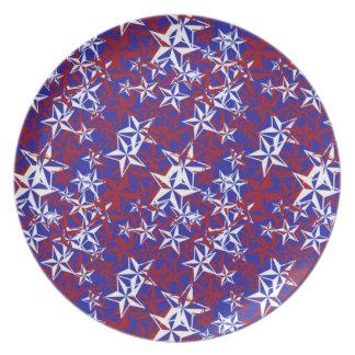 Patriot Stars Melamine Plate