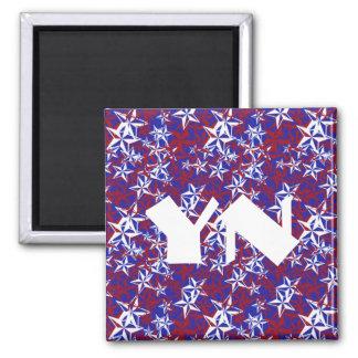 Patriot Stars monogrammed Magnet