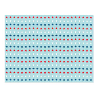Patriot Stars Pattern Postcard