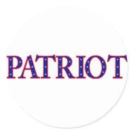 Patriot stickers sticker