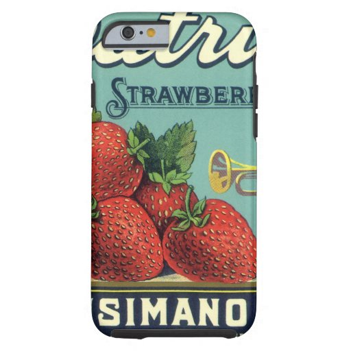 Patriot Strawberries Vintage Fruit Crate Label Art iPhone 6 Case