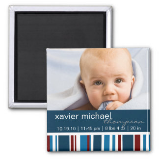 Patriot Stripes Baby Boy Photo Magnet
