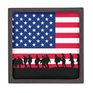 Patriot USA Soldiers flag motif Jewelry Box