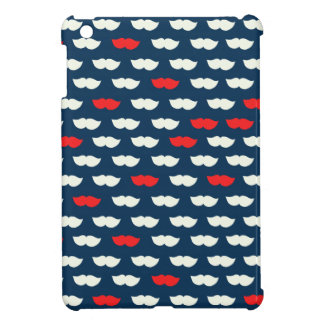 Patriot Vintage Red White Moustaches Cover For The iPad Mini