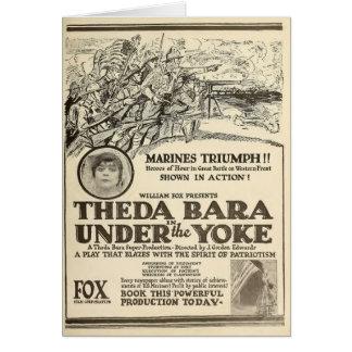 Patriota 1918 del anuncio del expositor de la pelí tarjeta de felicitación