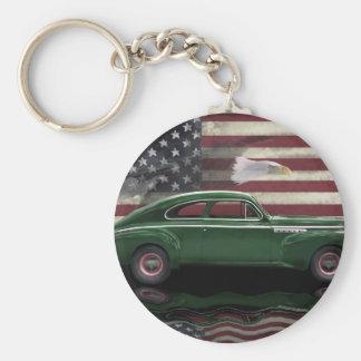 Patriota 1941 del siglo de Buick Llavero Redondo Tipo Pin
