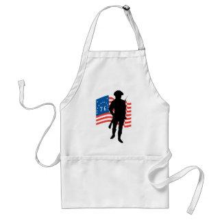 Patriota americano delantal