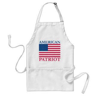 Patriota americano delantales
