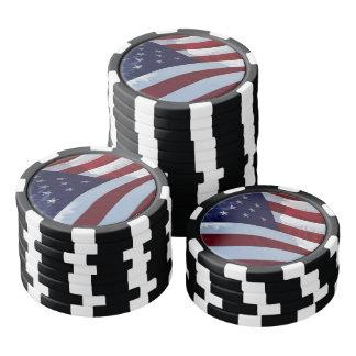 Patriota americano fichas de póquer