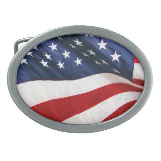 Patriota americano hebillas cinturon ovales