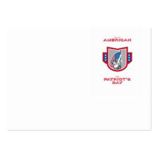 Patriota americano Holdin de la tarjeta de Tarjetas De Visita Grandes