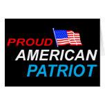 Patriota americano orgulloso felicitacion