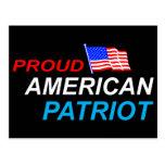 Patriota americano orgulloso postal