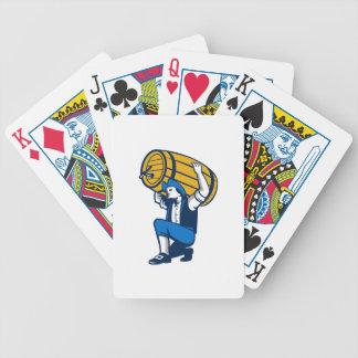 Patriota americano que levanta retro aislada del baraja cartas de poker