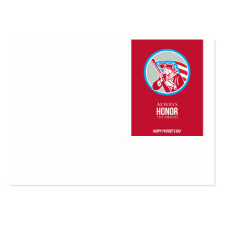 Patriota americano Soldie de la tarjeta de Tarjetas De Visita Grandes