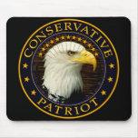Patriota conservador 2 alfombrilla de ratón