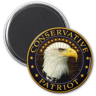Patriota conservador 2 imán redondo 5 cm