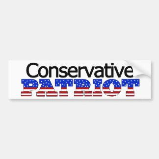Patriota conservador pegatina para auto