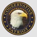 Patriota conservador pegatina redonda