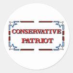 Patriota conservador pegatinas redondas